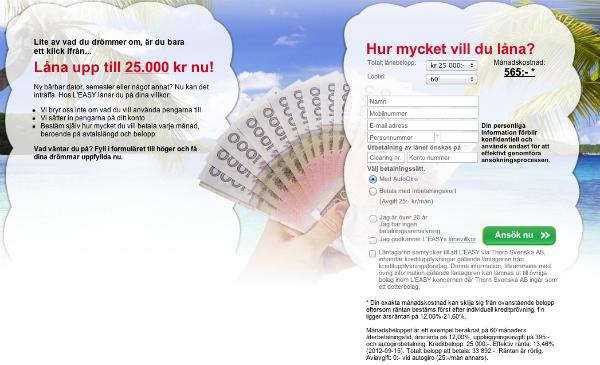 Låna pengar av L'EASY