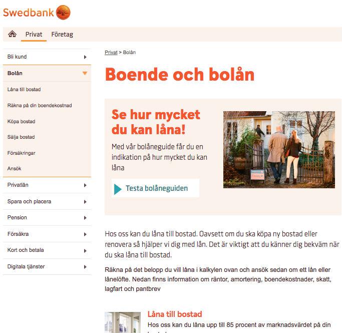Låna kontantinsats Swedbank