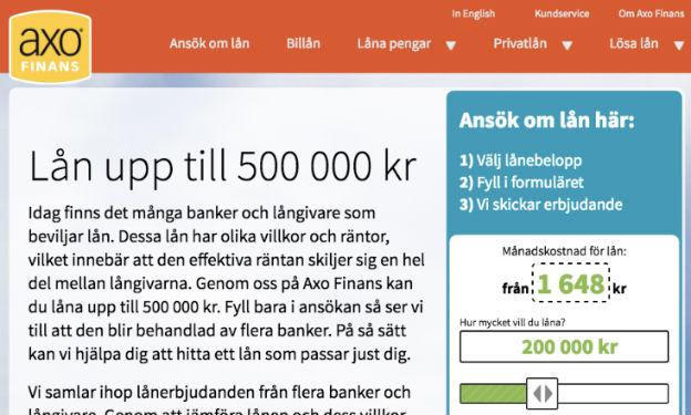 AXO Finans omdöme